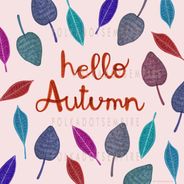 WELCOME BACK AUTUMN! FREE ILLUSTRATED POSTCARD