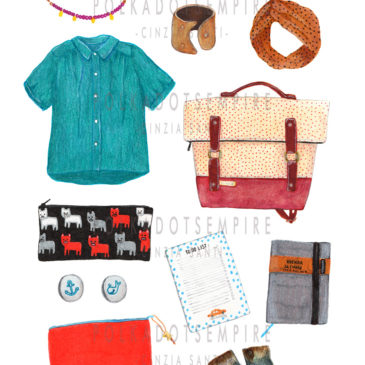 OUTFIT SOSTENIBILE ILLUSTRATO #1: BACK TO SCHOOL!