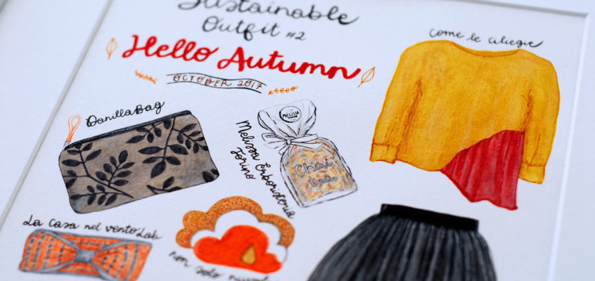 AUTUMN SUSTAINABLE FASHION:ILLUSTRATED OUTFIT #2