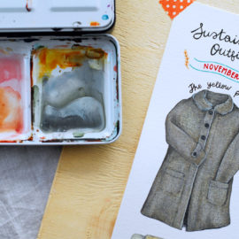 SUSTAINABLE ILLUSTRATED FASHION: OUTFIT N.3 NOVEMBER
